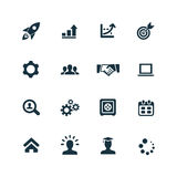 Startup icons set. On white background Royalty Free Stock Photography