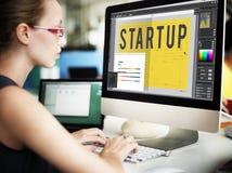 Startup idérikt begrepp för designarkitekturteknologi royaltyfri fotografi
