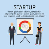 Startup infographic with business people Royalty Free Stock Photos
