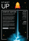 Startup infographic flyer template Stock Photography