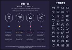 Startup infographic template, elements and icons. Stock Image