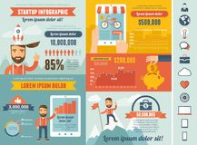 Startup Infographic Template Royalty Free Stock Photo