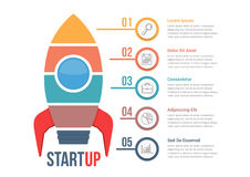 StartUp Infographics. With five steps vector illustration