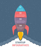 StartUp Infographics. With four steps vector illustration