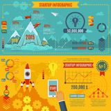 Startup Infographics Set. With business development market strategy charts vector illustration royalty free illustration