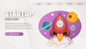 Startup Landing Page stock photography