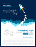 Startup Landing Webpage or Corporate Design Cover. S to use for web promotons, printed related materials or company presentation. Space for text Royalty Free Stock Photo
