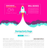 Startup Landing Webpage or Corporate Design Cover. S to use for web promotons, printed related materials or company presentation. Space for text Stock Photography