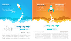 Startup Landing Webpage or Corporate Design Covers Royalty Free Stock Image