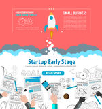 Startup Landing Webpage or Corporate Design Covers Stock Images