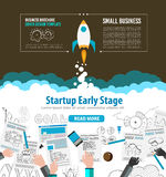Startup Landing Webpage or Corporate Design Covers. To use for web promotons, printed related materials or company presentation. Space for text Stock Images