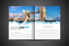 Startup Landing Webpage or Corporate Design Covers. To use for web promotons, printed related materials or company presentation. Space for text Stock Photography