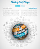 Startup Landing Webpage or Corporate Design Covers Stock Image