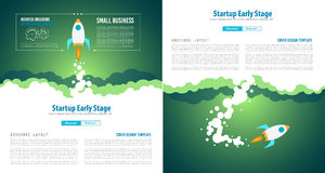 Startup Landing Webpage or Corporate Design Covers Royalty Free Stock Images