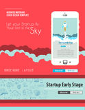 Startup Landing Webpage or Corporate Design Covers Stock Photos