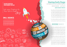 Startup Landing Webpage or Corporate Design Covers Royalty Free Stock Photo