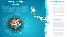 Startup Landing Webpage or Corporate Design Covers Royalty Free Stock Photos