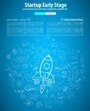 Startup Landing Webpage or Corporate Design Covers Stock Photography