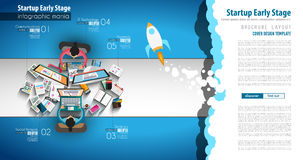 Startup Landing Webpage or Corporate Design Covers Stock Photo