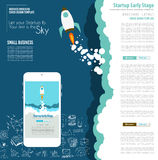 Startup Landing Webpage or Corporate Design Covers to use for web promotons. Printed related materials or company presentation. Space for text Royalty Free Stock Photos