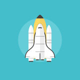 Startup launch flat icon illustration Royalty Free Stock Image