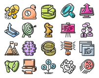 Startup line icon set Stock Images