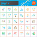 Startup line icons set, outline vector symbol collection. Startup line icons set, outline vector symbol collection, linear color pictogram pack isolated on Stock Images