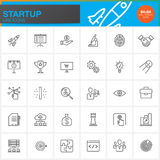 Startup line icons set, outline vector symbol collection, linear pictogram pack. Isolated on white, pixel perfect logo illustration Stock Images