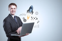 Startup and marketing concept Royalty Free Stock Image