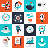 Startup and New Business. Abstract vector collection of flat startup and new business icons. Elements for mobile and web applications Stock Photos