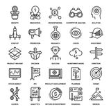 Startup and New Business. Abstract vector collection of line startup and new business icons. Elements for mobile and web applications Royalty Free Stock Image