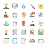 Startup and New Business Flat Vector Set. The creative and colorful Line icons set of seo and web optimization is one of its kind. Each icon in the set is very Royalty Free Stock Photo