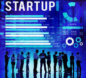 Startup New Business Growth Success Development Concept Stock Image
