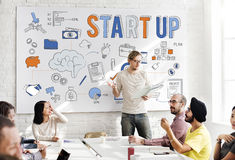 Startup New Business Launch Development Concept royalty free stock image