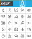 Startup and new business line icons set Stock Image