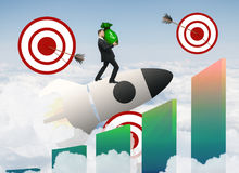 Startup och uppsätta som mål begrepp Arkivbild