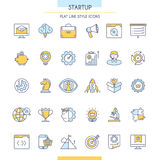 Startup Outline Icons Set Stock Images