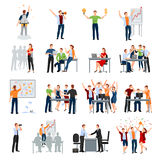 Startup People Flat Icons Collection Stock Images