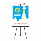 Startup presentation screen vector illustration