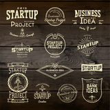 Startup project badges logos and labels for any Royalty Free Stock Photos