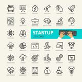 Startup project and development elements royalty free illustration