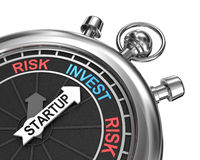 Startup risk invest concept Stock Image
