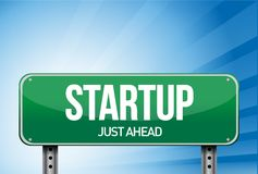 Startup road sign illustration design Stock Image