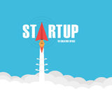 Startup Rocket Royalty Free Stock Photography