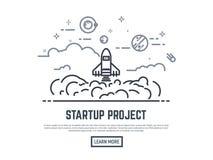Startup rocket project royalty free illustration