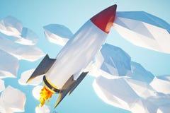 Startup rocket Royalty Free Stock Photos