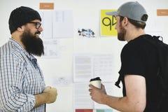 Startup seminarium för presentation för affärsfolk och strategibräde Arkivfoto