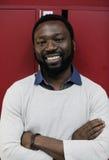 Startup stående för uttryck för leende för framsida för affärsfolk arkivfoto