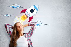 Startup and success concept stock illustration