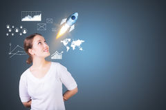 Startup and success concept Royalty Free Stock Images